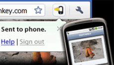 New Google Chrome to Phone feature