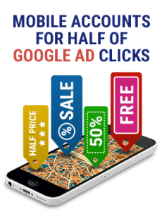 Mobile Accounts for Half of Google Ad Clicks