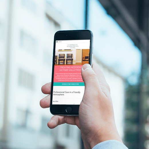 Chiropractic Rehabilitation Center Mobile Website